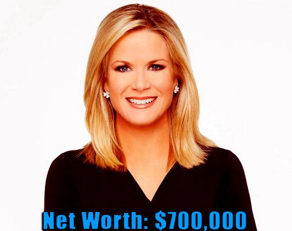Image of Journalist, Martha MacCallum net worth is $700,000