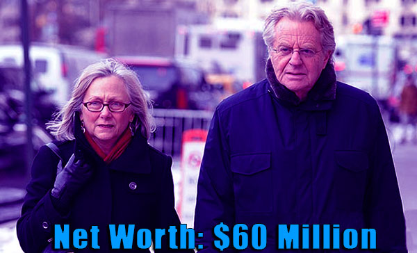 Image of Micki Velton husband Jerry Springer net worth and salary