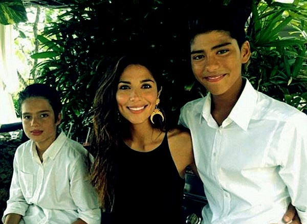 Image of Pia Miller son Isaiah Loyola and Lennox Miller