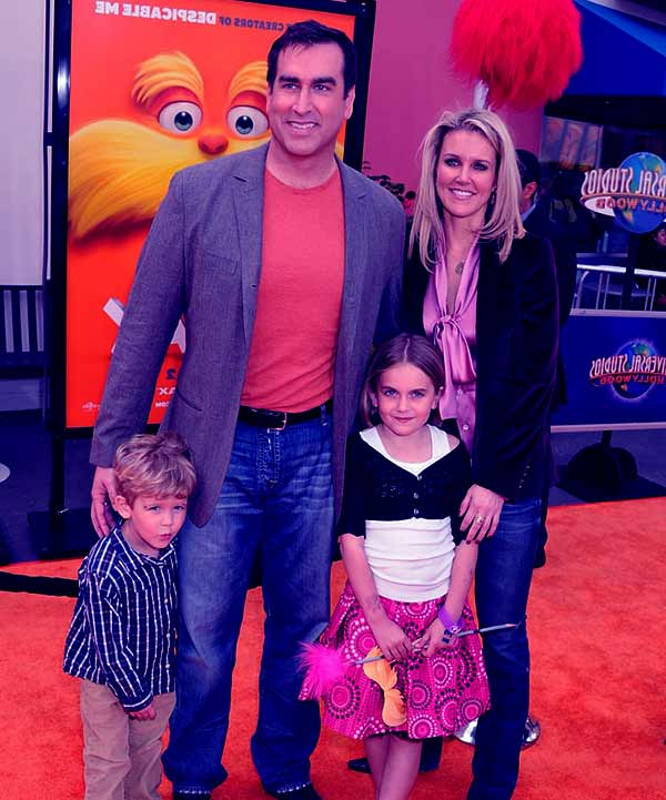 Image of Rob Riggle married life with his wife Tiffany Riggle and with their kids George Riggle (son) and Abby Riggle (daughter)