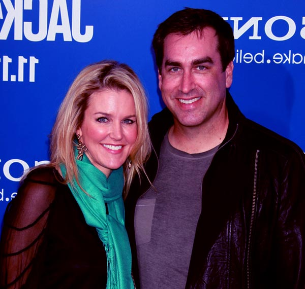 Image of Rob Riggle married life with his wife Tiffany Riggle