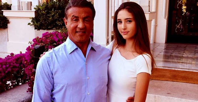 Image of Scarlet Rose Stallone wiki-biography; grandparents, siblings, great-grandparents of Sylvester Stallone's daughter