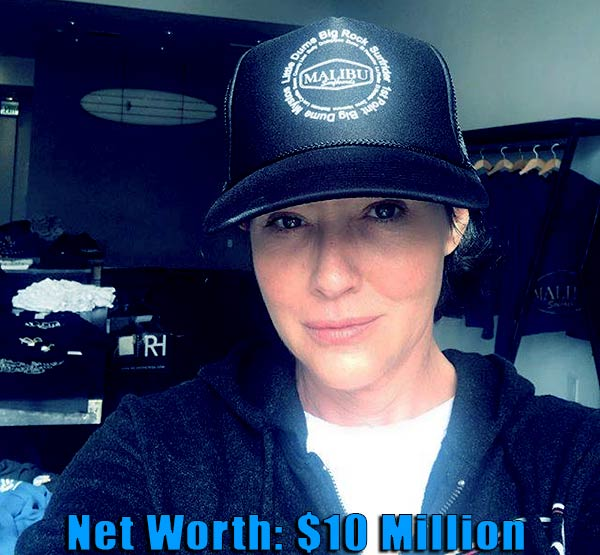 Image of American actress, Shannen Doherty net worth is $10 million