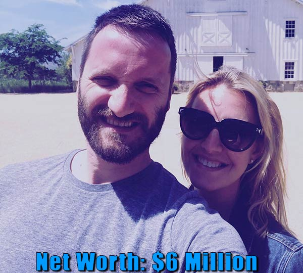 Image of Sinisa Babcic wife poppy Harlow net worth is $6 million