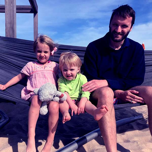 Image of Sinisa Babcic with his kids daughter Sienna Babcic and son Luca James Babcic
