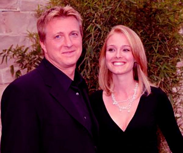Image of Stacie Zabka with her husband William Zabka