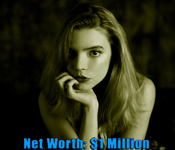 Image of Actress, Anya Taylor-Joy net worth is $1 million