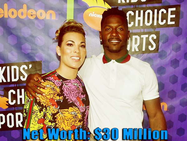 Image of Chelsie Kyriss's boyfriend's Antonio Browns's net worth is $30 million