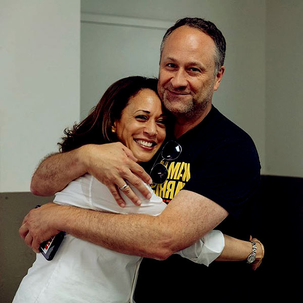 Image of Douglas Emhoff with his wife Kamala Harris
