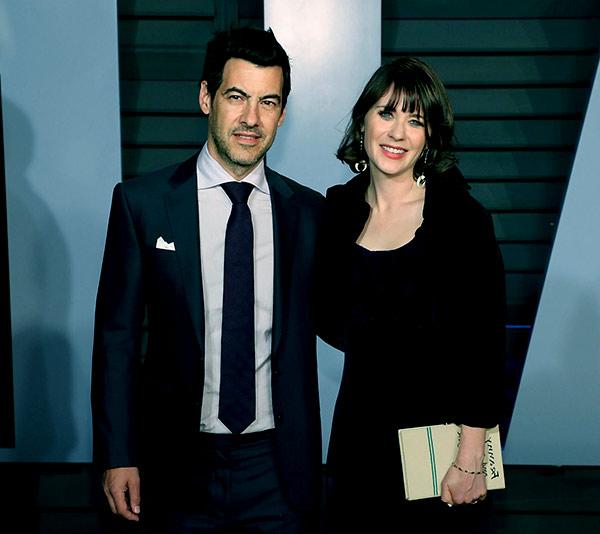 Image of Jacob Pechenik with his wife Zooey Deschanel