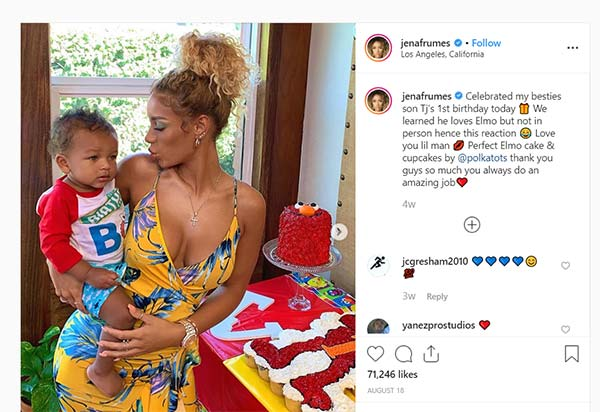 Image of Jena Frumes celebrating her Son TJ's first birthday