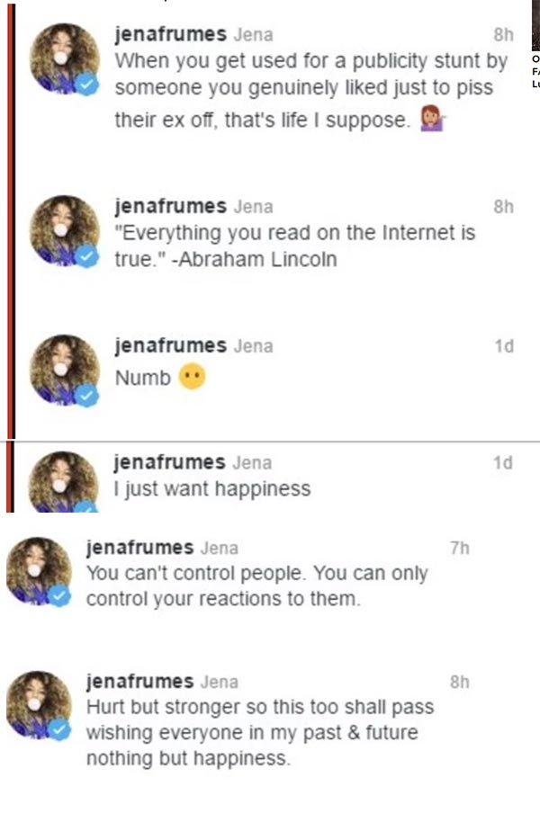 image of Jena Frumes' deleted tweets' photos