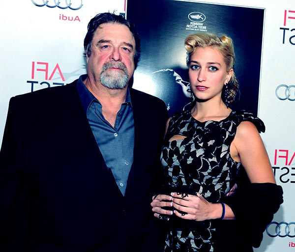 Image of John Goodman with his daughter Molly Evangeline Goodman