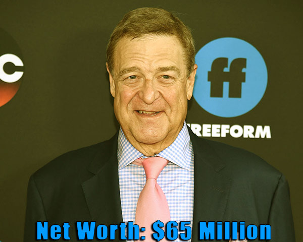 Image of American actor, John Goodman net worth is $65 million