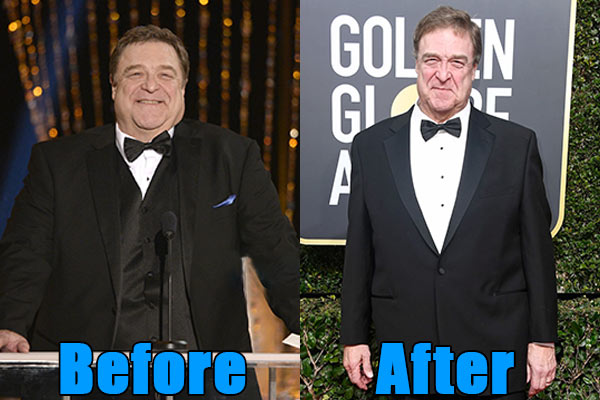 Image of John Goodman weight loss before and after
