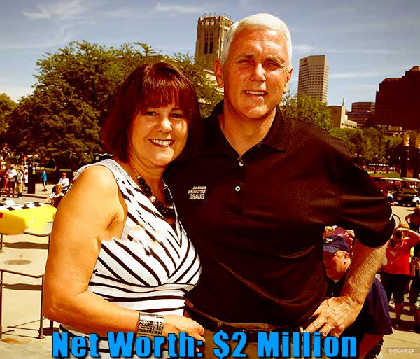 Image of Karen Pence husband Mike Pence net worth is $2 million