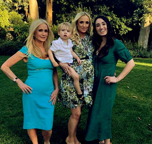 Image of Kim Richards with her daughters Kimberly Jackson and Brooke Wiederhorn and with her grandson Hucksley