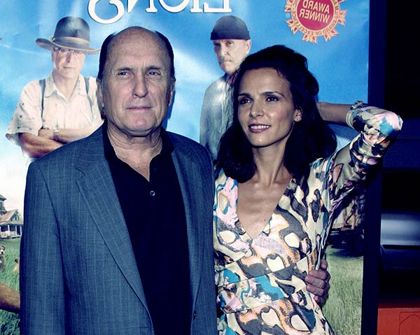 Image of Luciana Pedraza with her husband Robert Duvall