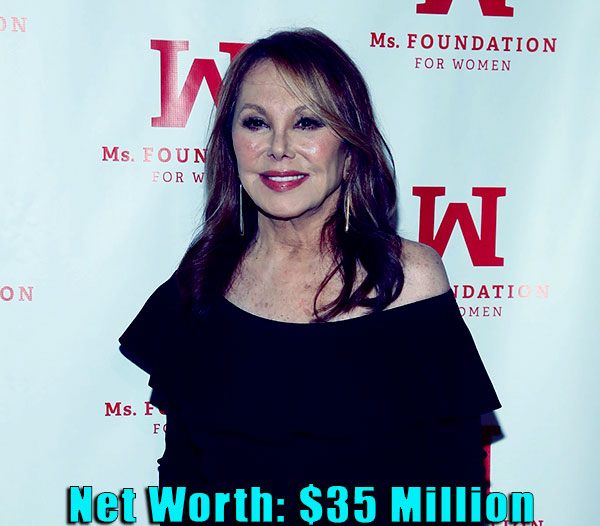 Image of American actress, Marlo Thomas net worth is $35 million