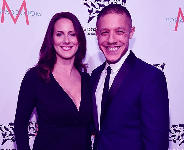 Image of Meghan McDermott with her husband Theo Rossi