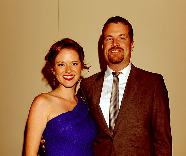 Image of Peter Lanfer with his wife Sarah Drew