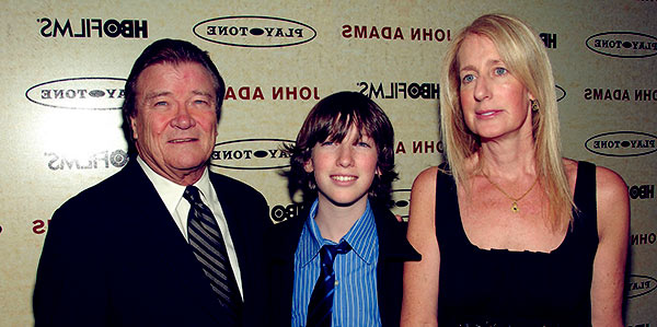 Image of Steve Kroft with his wife Jennet Conant and son, John Conant Kroft