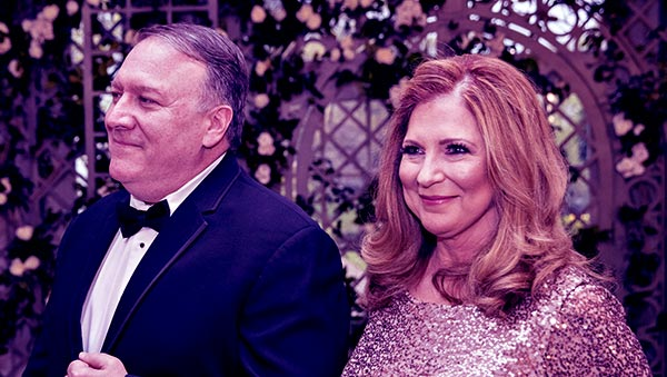 Image of Susan Pompeo with her husband Mike Pompeo