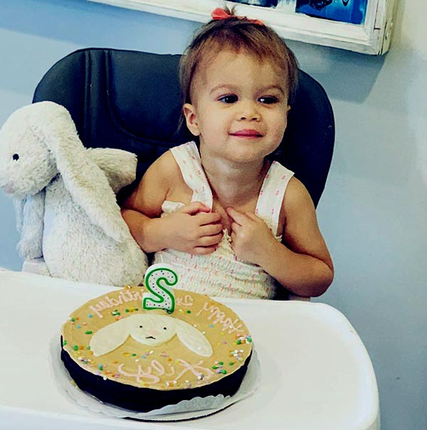 Image of Tori Moore daughter Lily James Foles.