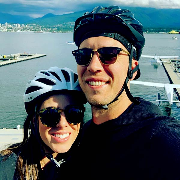 Image of Tori Moore with her husband Nick Foles