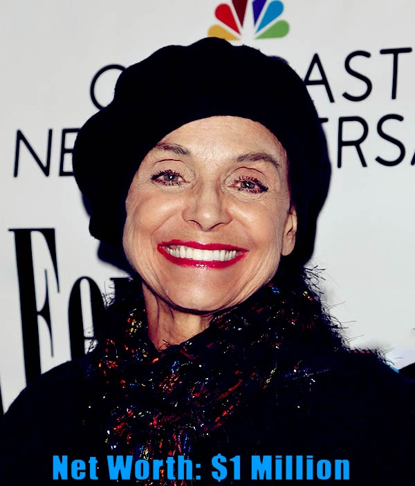 Image of American actress, Valerie Harper net worth is $1 million