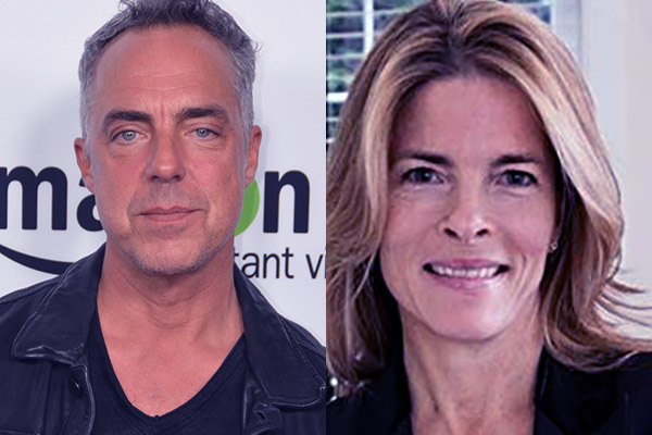 Image of Titus Welliver and his ex-wife Joanna Heimbold