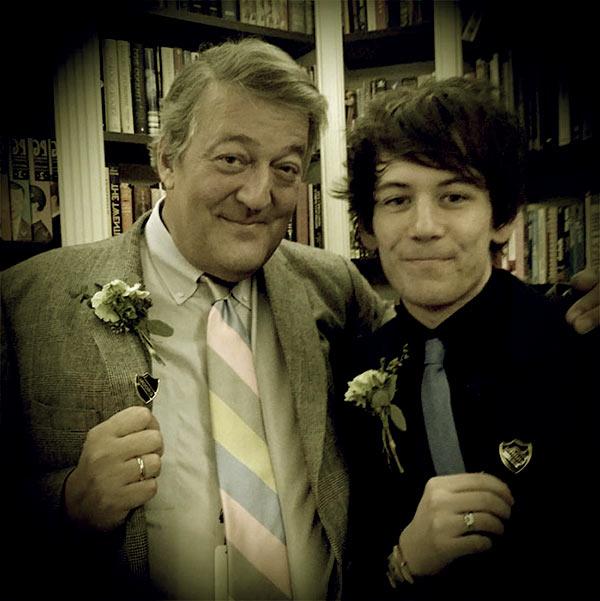 Image of Elliot Spencer married Stephen Fry in January 2015