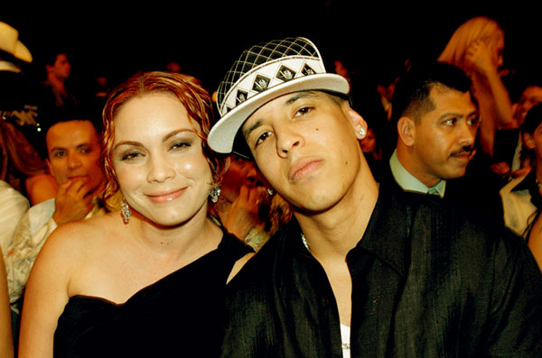Image of Daddy Yankee With his wife Mireddys González