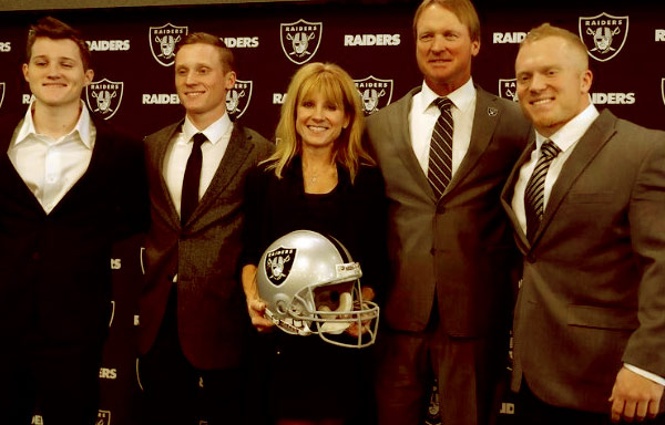 Image of Cindy Gruden And Husband Jon Along With Three Sons