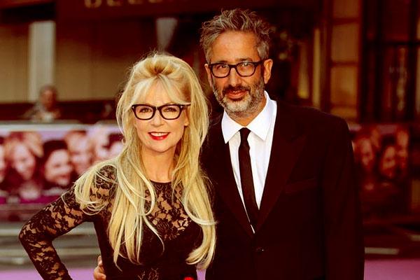 Image of David Baddiel with wife, Morwenna Banks