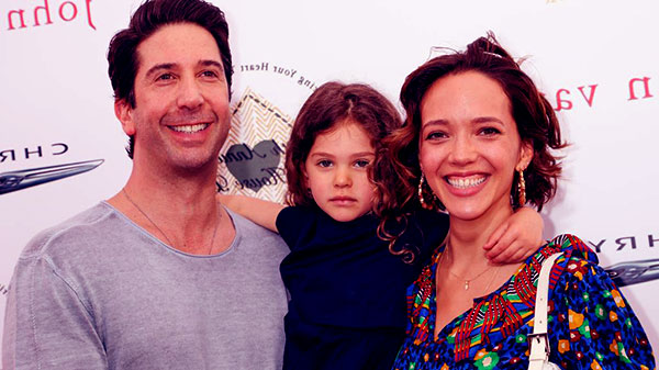 Image of Cleo Buckman Schwimmer with her father David Schwimmer and mother Zoe Buckman