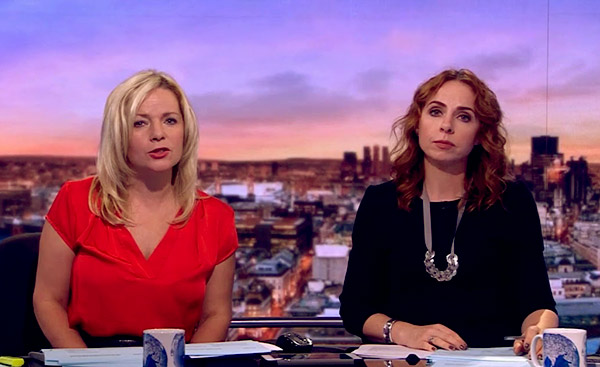 Image of Rachel Horne and Susannah Streeter BBC Business Live