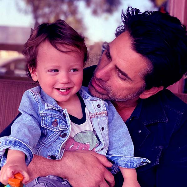 Image of John Stamos's with his son