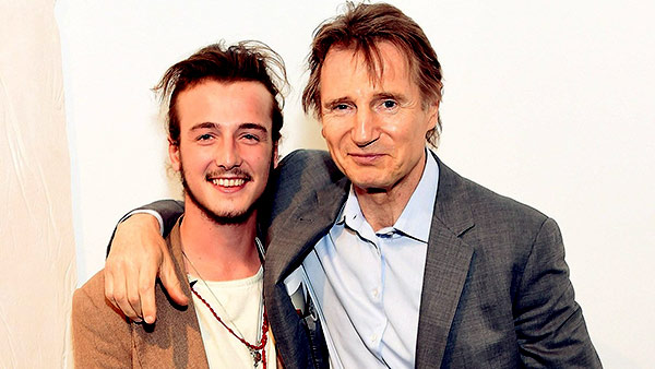 Image of Michael Richardson with his beloved father, Liam Neeson.