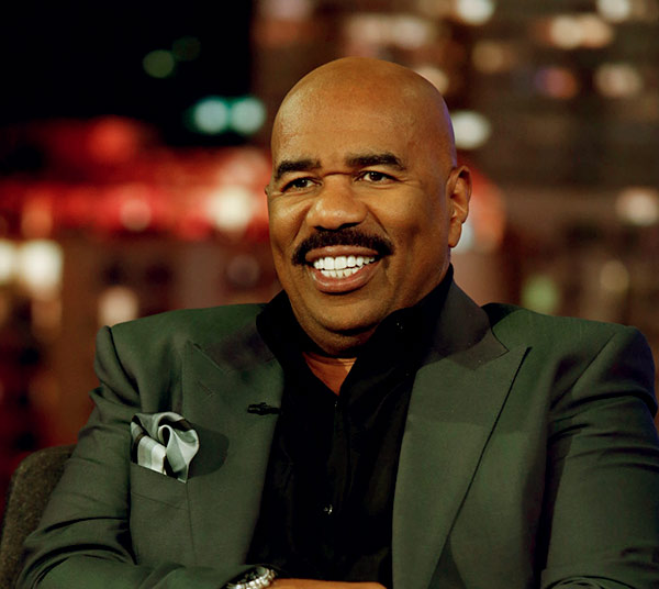 "Image of A prominent figure in the American entertainment industry ""Steve Harvey"""