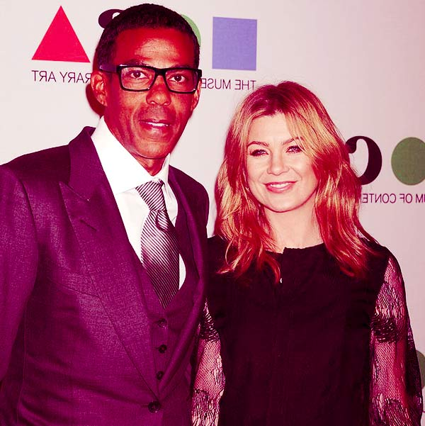 Image of Chris Ivery with his wife, Ellen Pompeo