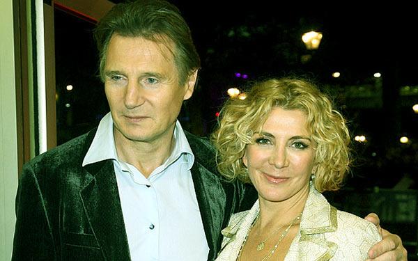 Image of Natasha Richardson with her husband, Liam Neeson