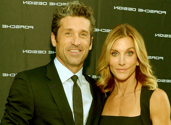 Image of Jillian Fink with her husband , Patrick Dempsey
