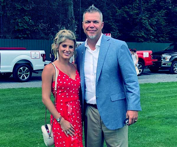 Image of Taylor Higgins married to former MLB player Chipper Jones