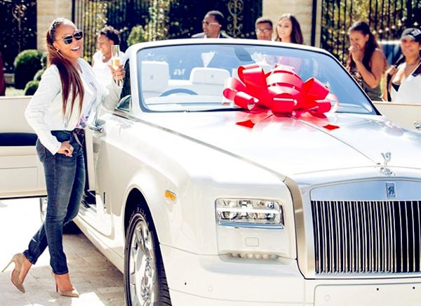 Image of Steve Harvey gifted his wife, Marjorie Bridges a $500,000 Rolls Royce car on her 50th birthday