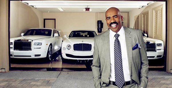 Image of Comedian, Steve Harvey's car collection