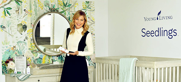 Image of Ellen Pompeo shared a Young Living Seedlings,' a plant-based baby care products