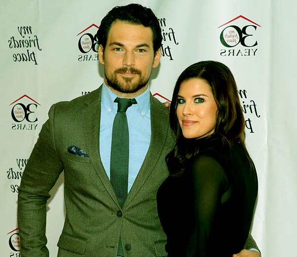 Image of Giacomo Gianniotti with his wife Nichole Gustafson