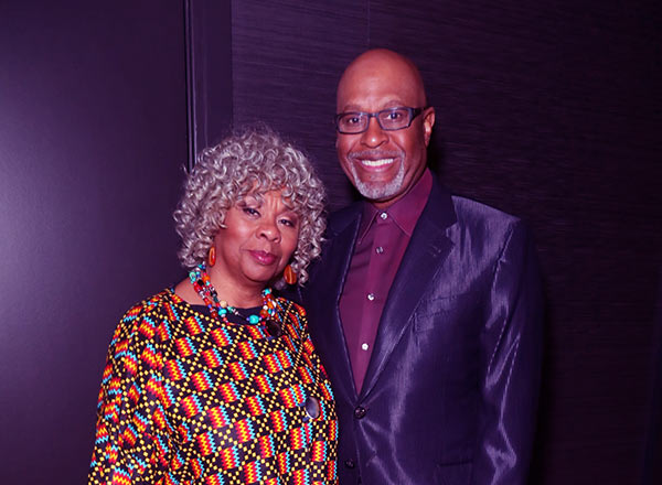 Image of Gina Taylor with her husband James Pickens Jr