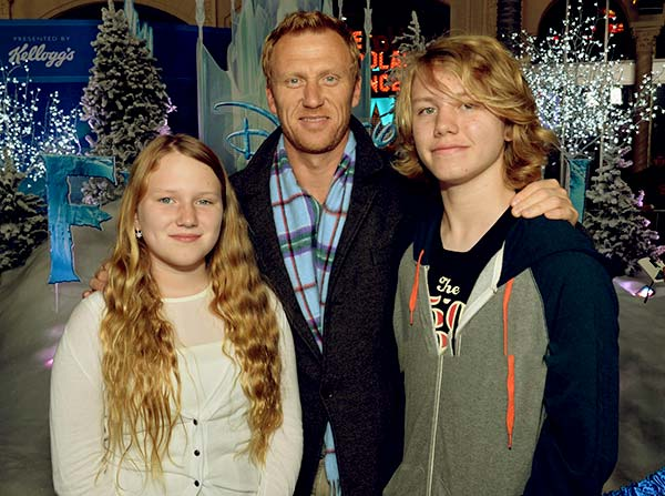 Image of Kevin McKidd with his kids Iona McKidd and Joseph McKidd